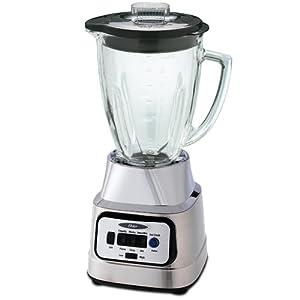 Oster BCBG08-C 6-Cup Glass Jar 8-Speed Blender, Brushed Nickel