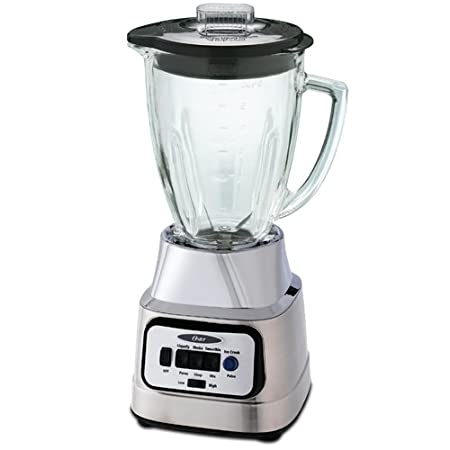Oster BCBG08-C 6-Cup Glass Jar 8-Speed Blender, Brushed Nickel at Sears.com