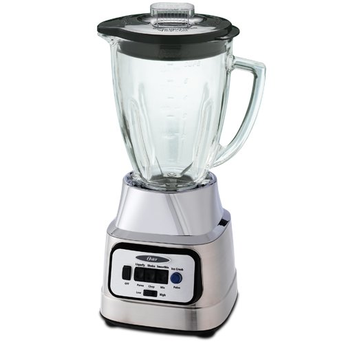 Oster BCBG08-C 6-Cup Glass Jar 8-Speed Blender, Brushed Nickel