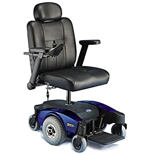 Invacare Pronto M51 Power Wheelchair with Captain's Seat - Pronto M51 Power Chair with Captain's Seat - Blue - M51PSEMIBLUE