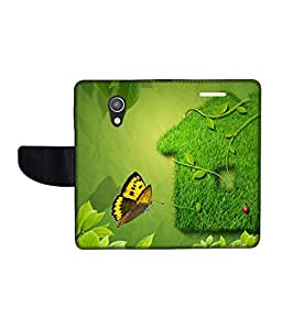 KolorEdge Printed Flip Cover For Motorola Moto G (2nd Gen) Multicolor - (50KeMlogo10189MotoG2)