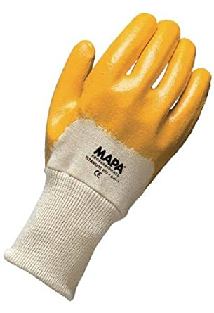 MAPA Titanlite GPA397 Nitrile Light/Mediumweight Glove, Work, 10-1/2