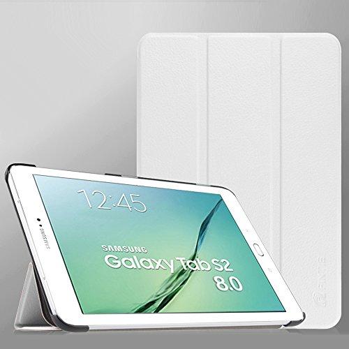 "Fintie Samsung Galaxy Tab S2 8.0 Custodia - Ultra Sottile Di Peso Leggero Tri-Fold Smart Case Cover Sleeve Con Funzione Sleep/Wake per Samsung Galaxy Tab S2 8.0"" SM-T715N Tablet, Bianco"