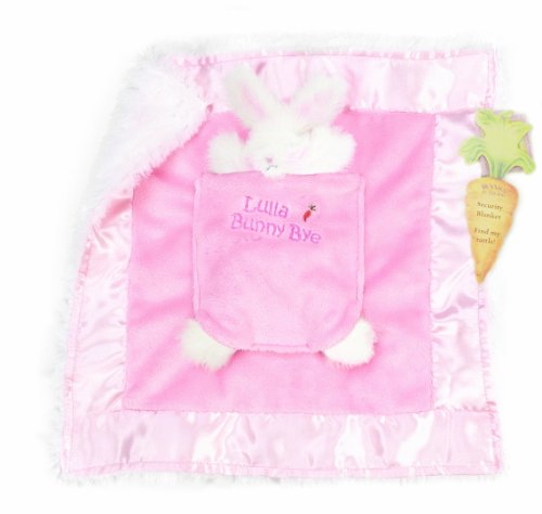 Bunnies by the Bay Lulla Bunny Bye Binkie Blanket, Pink