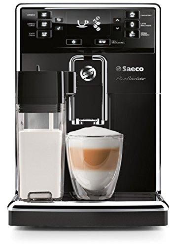 Saeco HD8925 Espresso machine 1.8L Negro, Acero inoxidable - Cafetera (Independiente, Totalmente automática, Espresso machine, Granos de café, De café molido, Negro, Acero inoxidable, Botones)