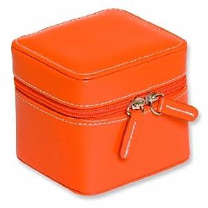 Orange Mini Zippered Jewelry Case