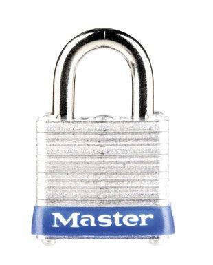 """Masterlock 7Ka#P506 """"Keyed Alike"""" 4-Pin Tumbler Padlock With Brass Cylinder 1-1/8"""" (Pack Of 6)"""