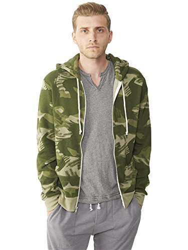 Alternative Men's Rocky Zip Hoodie Sweatshirt, Paint Brush C