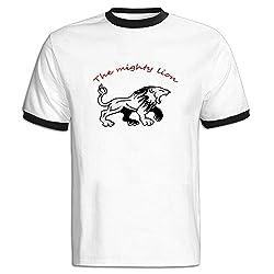 King Of The Forest Lion Short Sleeve Stylish Boys T-shirts Black