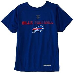 NFL Buffalo Bills 8-20 Boys Dri-Tek Equipment Tee (Royal, Medium)