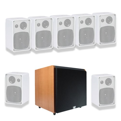 Acoustic Audio AW43W 7.1 Home Surround Speaker System w/Cherry 10