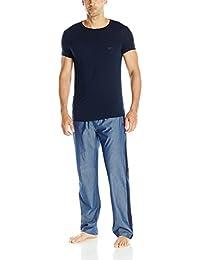 Emporio Armani Men's Chambray And Viscose Pajama Set