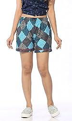 Abony Women's Multicolor Cotton Short (Size:XXL)