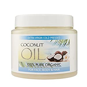 Coconut Oil for Hair, Pure Coconut Oil, Extra Virgin Coconut Oil, Coconut Oil for Face, Raw Coconut Oil, Unrefined Coconut Oil, Organic Virgin Coconut Oil Organic Dry Scalp Treatment, Coconut Oil for Hair Growth, Coconut Oil Hair Treatment - 500 grams
