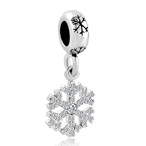 Pandora Bracelet Charms Cheap: Christmas Snowflake Dangling Charm Sale Cheap Jewelry