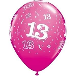 missy moo ballon gonflable fete anniversaire 13 ans couleur rose 28cm x5 jeux et. Black Bedroom Furniture Sets. Home Design Ideas