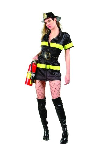 Adult Sexy Fire Fighter Costume Size X-Large (12-14)