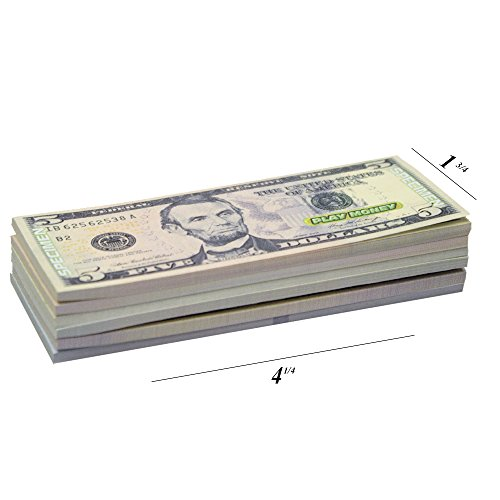 Real Looking US Play Money - 30 Bills of $1, $5, $10, $20, $50, & $100 - Educational Collection For Children In All Ages - 1