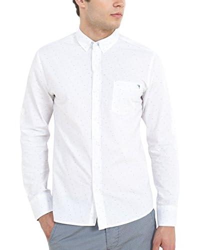Cazador Camicia Uomo [Bianco/Blu]