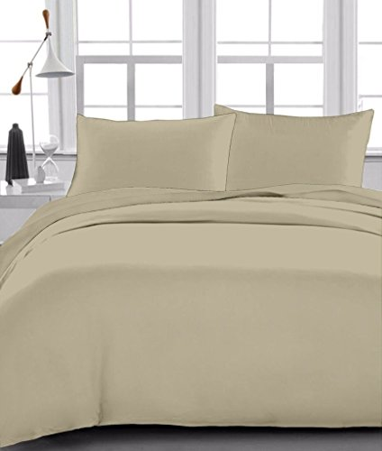 Full Sheet Set Egyptian Cotton 600 Thread-Count (+11 Inch) Deep Pocket, Taupe Solid (Hotel Collection Full Sheet Set compare prices)