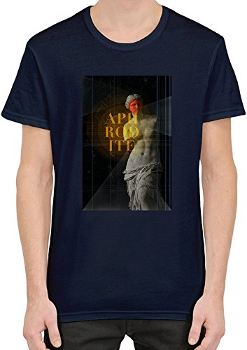 Aphrodite T-Shirt For Men  Custom -Printed Tee  100% Superior Combed/Ring-Spun Cotton  Premium Quality DTG Printing  Unique Clothing For Men By Teezer Tee (Roman Godess)
