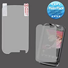 buy Cell Accessories For Less (Tm) Huawei U8730 (Mytouch Q) Screen Protector Twin Pack Bundle (Stylus & Micro Cleaning Cloth) - By Thetargetbuys