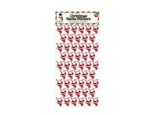50 pk christmas santa stickers - Pack of 24