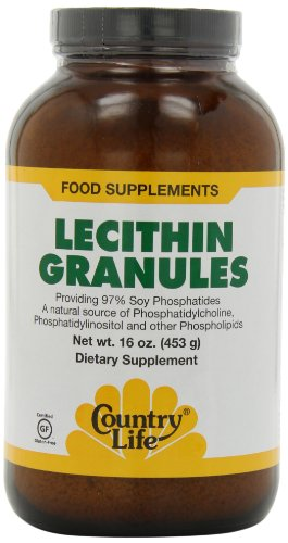 Country Life Lecithin Granules, 16-Ounce