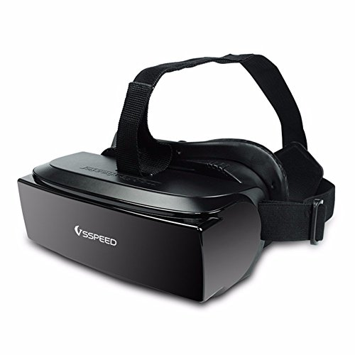 """VSSPEED HMD-518 20Hz-20Khz 80"""" A/V Input Wide Screen 1080P 3D Video Movie Game Glasses VR Virtual Reality Headset Private Mobile Cinema Personal Theater Game Movie All in One, Support 32G"""