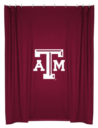Texas A&M Aggies COMBO 3 Pc TWIN Comforter Set, Shower Curtain & 4 Pc Towel Set - Entire Set Includes: (1 Comforter, 1 Sham, 1 Bedskirt,1 Shower Curtain, 2 Bath Towels, 2 Hand Towels)- Decorate your Bedroom and Bathroom & SAVE BIG ON BUNDLING!