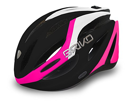 Briko BH0003 - Casco da ciclismo Adulti, colore: multicolore  Multi-Coloured - matt black/White