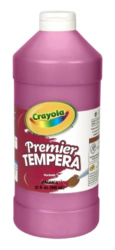 Crayola Tempera Paint 32-Ounce Plastic Squeeze Bottle, Magenta