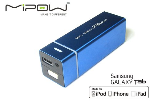 MiPow Power Tube 5500 ネイビーブルー iPhone4S/iPad2/Galaxy Tab対応