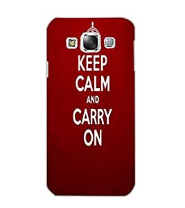 SAMSUNG GALAXY E5 KEEP CALM Back Cover by PRINTSWAG