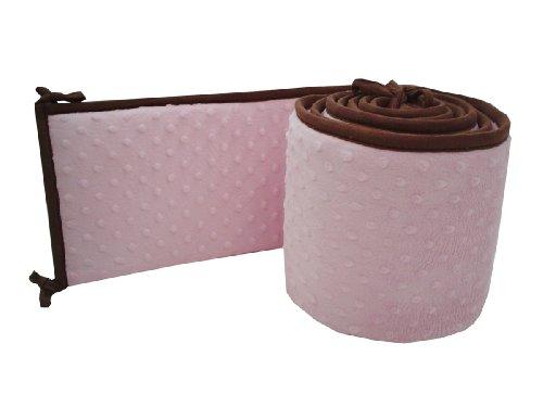 Imagen de American Baby Compañía Cuna Minky Dot Parachoques con el ajuste de chocolate, Pink