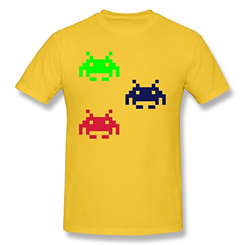 Men'S Short Sleeves T Shirt Spaceinvader Cotton front-327118