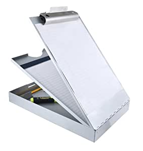 Saunders Recycled Aluminum Cruiser-Mate Storage Clipboard with Dual Tray Storage, Letter Size, 8.5 x 12-Inches (21017)