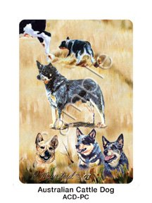 Best Friends Playing Cards, by Ruth Maystead - Australian Cattle Dog - 1