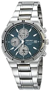 Seiko Men's SNA695 Alarm Chronograph Silver-Tone Watch