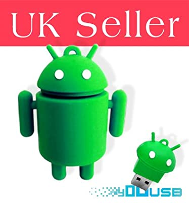 8GB Cute Cartoon Green Android Robot USB Flash Key Pen Drive Memory Stick Gift UK from YooUSB