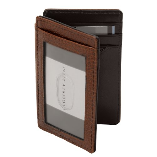 Geoffrey Beene Mens Leather Card Holder Wallet