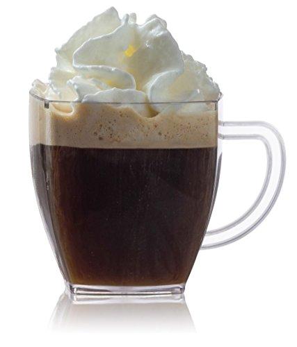 Zappy Square 2 Oz Mini Coffee Espresso Cappuccino Mugs 24 Ct Small Dessert Shot Glasses Party Wedding Cups Disposable Plastic Mug (Clear) (Mini Hot Chocolate Mugs compare prices)