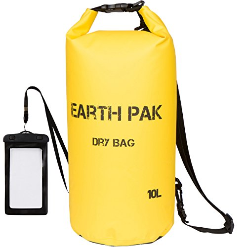 Earth Pak -Waterproof Dry Bag - Roll Top Dry Compression Sack Keeps Gear Dry for Kayaking, Beach, Rafting, Boating, Hiking, Camping and Fishing with Waterproof Phone Case (Dry Top Kayak compare prices)
