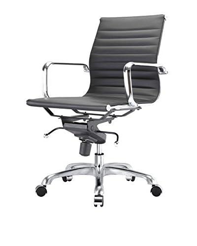 Meelano M344 Office Chair In Black Vegan Leather