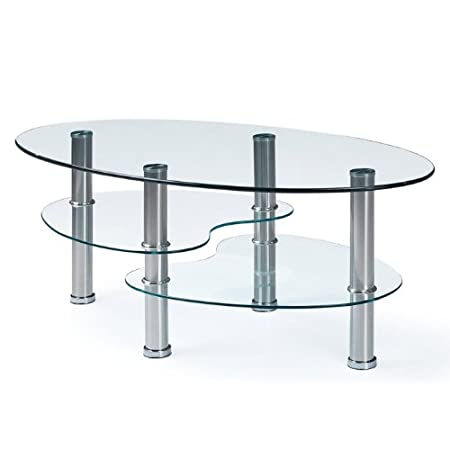 Global Furniture Clear Stainless Steel Occasional Coffee Table