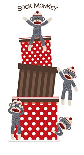 Sock Monkey Red Standup - 5' Tall