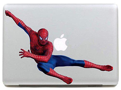 "DallowayCabin Marvel Comic Super Hero Iron Man/SpiderMan Removable Vinyl Sticker Decal for Apple Macbook/Macbook Air/Macbook Pro 13""/15""/17"" (Spide Man Flying, Macbook 15"")"