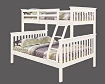 Big Sale Twin over Full Mission Bunk Bed in White