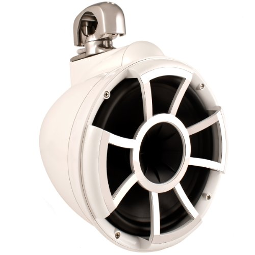 Wet Sounds Revolution Series 10 Inch Hlcd Wakeboard Tower Speakers - White W/ Swivel Clamp