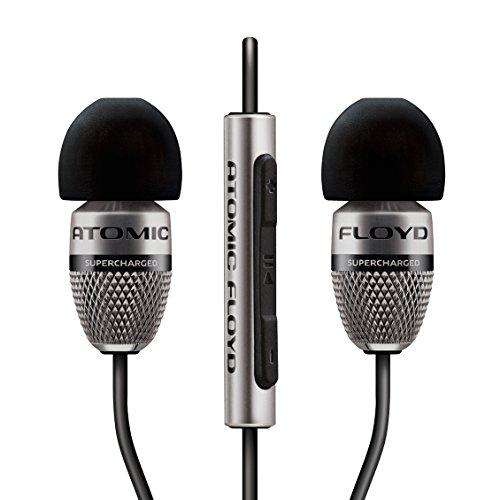 Atomic Floyd SuperDarts Cuffie in Titanio con Telecomando, Nero